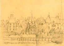 K000599 Schets naar een 17e eeuwsch schilderij is de titel van deze potloodtekening van A.J. Reijers. De locatie van de ...