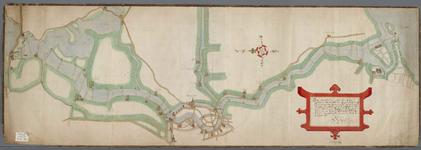 A-0329 [Kaart van het Spaarne, waarop dieptepeilingen staan aangegeven], 1605