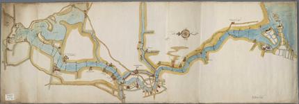 A-0330 [Kaart van het Spaarne, waarop dieptepeilingen staan aangegeven], 1605