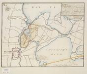 A-0349 Kaart (gecopieert uijt de groote Kaart van Rhynland d' Ao. 1687.) waar in vertoont word, een Conc..., 1769