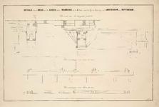 A-1641 Details van de brug over de Leede onder Warmond in de IIe Sectie van den IJzeren Spoorweg van Ams..., 1841