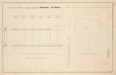 A-1995 Roosterwerk en rails van den IJzeren Spoorweg van Amsterdam naar Rotterdam, circa 1842