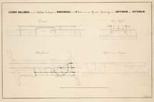 A-1996 IJzeren draaibrug over de Delftsche Trekvaart te 's Gravenhage in de IIIe Sectie van den IJzeren ..., circa 1842