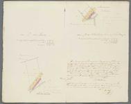 A-3563 [Uittreksels uit het kadaster van twee percelen land onder Oegstgeest met weergave van de spoorwe..., 1842