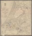 B-0007 Kaart van het hoogheemraadschap van Rijnland, 1855, met aantekeningen, 1899