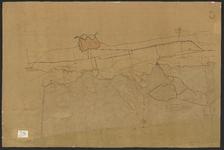 B-0041 Kaart van de duinen en aangrenzende landen van de grens van Zuid-Holland-Noord-Holland tot aan de la, 1881
