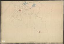 B-0621a Kaart van de boezemwateren in het westelijke gedeelte van Rijnland met daarop de uitslaande molens, 1870