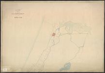 B-0621b Kaart van de boezemwateren in het noordelijke gedeelte van Rijnland met daarop de uitslaande molens, 1870