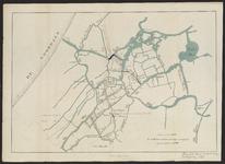 B-0622 Kaart waterwegen in het westelijke gedeelte van Rijnland , 1877