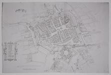 JMD-T-533 Reproductie, Vestingkaart stad Groningen, schans