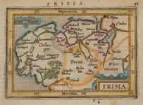 JMD-T-536 Kopergravure, Topografische kaart Noord-Nederland, Frisia