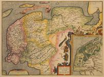 JMD-T-541 Kopergravure, Topografische kaart Friesland en Groningen