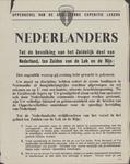 71 Opperbevel van de geallieerde expeditie-legers : Nederlanders : tot de bevolking van het zuidelijk deel van ...