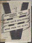 627 Pamflet in brochurevorm (4 blz.) blz. 1: Perkabaran diri negeri2 serikat. Nieuws van de Geallieerden. News from the ...