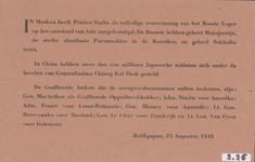634 In Moskou heeft Premier Stalin de volledige overwinning van het Roode leger op het vasteland van Azië ...