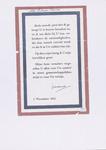 663 Pamflet, rood-wit-blauw omlijnd, met boodschap van Prinses Juliana: Sinds zoovele jaren heb ik gehoopt U te ...
