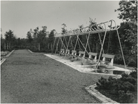 Een serie van 5 foto's betreffende de omgeving Karpendonkse Plas, 09-1965