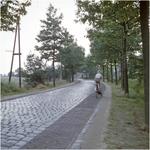 Serie van 3 glaspositieven betreffende de weg van Oerle richting Wintelre of vice versa, 1955 - 1965