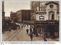 25834 Emmasingel, gezien vanaf de kruising met de Parallelweg met op de hoek café Central, 1927