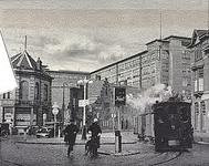 25866 Emmasingel, gezien vanaf de Keizersgracht met de stoomtram voor goederenvervoer, 1932 - 1933