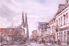 251742 Stratumseind gezien richting Catharinakerk, ca. 1910