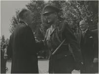 Een serie van 4 foto's betreffende de bevrijdingsherdenking 1949, 18-09-1949