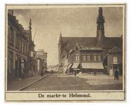 104038 Zuidwestelijke hoek van de Markt, met gezicht op de Veestraat. Rechts op de hoek van de Markt Albert Heyn, met ...