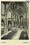 106720 Veestraat 12. Interieur kerk Heilig Hart, 1900 - 1910
