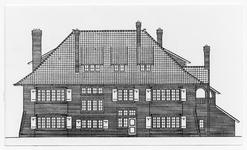 107582 Wilhelminalaan, bouwtekening villa De Vuurdoorn, ontwerp van J.W. Hanrath. Later gebruikt als politiekazerne en ...