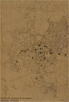 175304 Kaart van de Gemeente Helmond, waarop aangegeven het gebied rond de Zuid - Willemsvaart. Op de perselen waar de ...