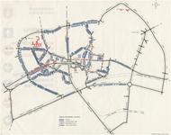175573 Kaart van de Gemeente Helmond met de instelling van eenrichtingsverkeer in de binnenstad i.v.m. openstelling ...