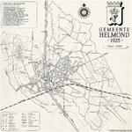 176005 Kaart van de gemeente Helmond waarop aangegeven de industrieen (in de kanaalzone genummerd), bebouwing en ...