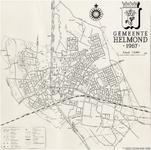 176006 Kaart van de gemeente Helmond waarop aangegeven de industrieen (in de kanaalzone genummerd), bebouwing en ...