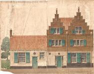 J20-40 Restauratie Kerkstraat Sommelsdijk 3 gevels zuidzijde , ca. 1950