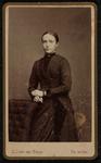 1820-16 Deventer - Album Burgerweeshuis en Kinderhuis - Carte de VisitePortret van een vrouw.