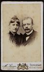 1821-1 Deventer - Album Burgerweeshuis en Kinderhuis - Carte de visitePortret van man en vrouw (echtpaar?). Vader en ...
