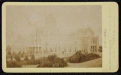 1821-8 Deventer - Album Burgerweeshuis en Kinderhuis - Carte de visiteAmsterdam, het paleis voor Volksvlijt aan het ...