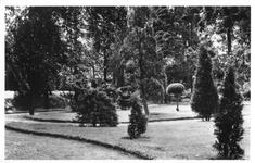 265080 De kloostertuin van het klooster te St. Agatha in de lente