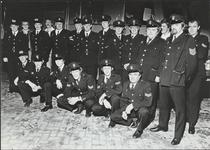 Vrijwillige brandweer corps ter gelegenheid van de ingebruikneming van de nieuwe brandweergarage in oktober ...
