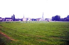 EHC-029-01 Grasveld voor de bouw van het nieuwe Stadskantoor aan de Baenjenstraat (het huidige Hub Dassenplein) 15-09-1972