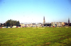 EHC-029-07 Grasveld voor de bouw van het nieuwe Stadskantoor aan de Baenjenstraat (het huidige Hub Dassenplein) 15-09-1972