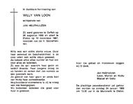 809_12_0147 Loon, van, Willy: geboren op 26 augustus 1930 te Oeffelt, overleden op 10 december 1987