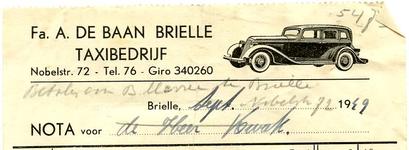 BR_BAAN_008 Brielle, A. de Baan - Fa. A. de Baan Brielle Taxibedrijf, (1949)