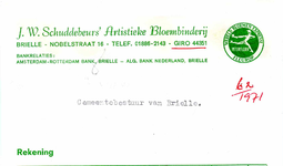 BR_SCHUDDEBEURS_008 Brielle, Schuddebeurs - J.W. Schuddebeurs Artistieke Bloembinderij, (1971)