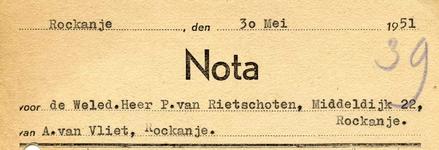 RO_VLIET_004 Rockanje, Van Vliet - A. van Vliet, Metselaars, (1951)