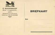 SP_KOORNNEEF_002 Spijkenisse, Koornneef - C. Koornneef, wagen- en eggenmakerij. Handel in: drogerijen en verfwaren ...