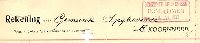 SP_KOORNNEEF_003 Spijkenisse, Koornneef - H. Koornneef, (1933)