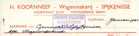 SP_KOORNNEEF_005 Spijkenisse, Koornneef - H. Koornneef, Wagenmakerij, (1943)