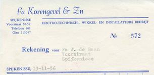 SP_KORENGEVEL_001 Spijkenisse, Korengevel & Zn. - fa. Korengevel & Zn., electro-technisch-, wikkel- en ...