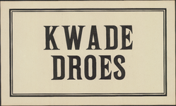 AFFICHE_B_45 KWADE DROES, [1941]